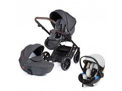 PETITE&MARS Kočárek kombinovaný Rover 3v1 Grey 2020