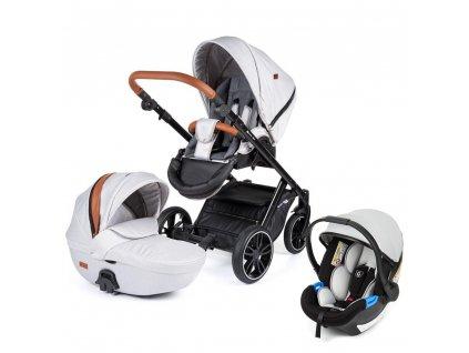 PETITE&MARS Kočárek kombinovaný Rover 3v1 Silver 2020