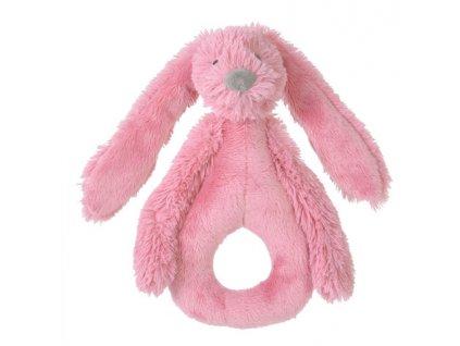Happy Horse - Chrastítko králíček Richie malinové Velikost: 18 cm