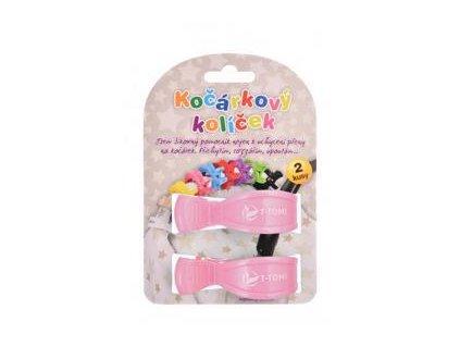 T-TOMI Kolíček na kočárek (2 ks) Pastel Pink