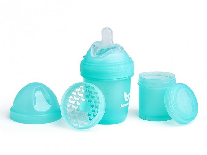 Herobility kojenecká láhev HeroBottle 140ml modrá