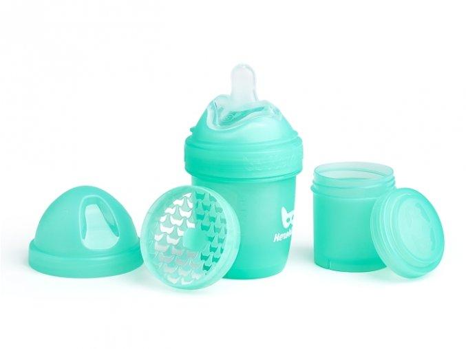 Herobility kojenecká láhev HeroBottle 140ml tyrkysová 2