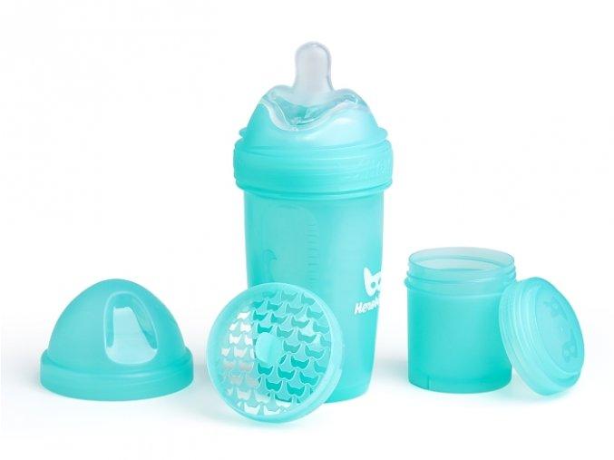 Herobility kojenecká láhev HeroBottle 240ml modrá