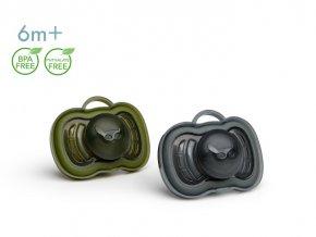 Herobiity dudlík 6m 2ks Olive Green Black