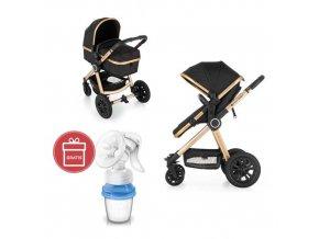 Kočárek kombinovaný 2v1 Grand II Golden Ebony Petite&Mars 2020 + Odsávačka mateř.ml.