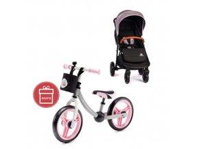 Kočárek sportovní Move Shadow Grey 2020 Petite&Mars + Detské odrážadlo 2WAY Next Light pink