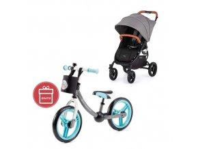 Kočárek sportovní Valco Snap 4 Flat Matte LTD Edition Fauna s prvky z ekokůže Caramel + Detské odráž