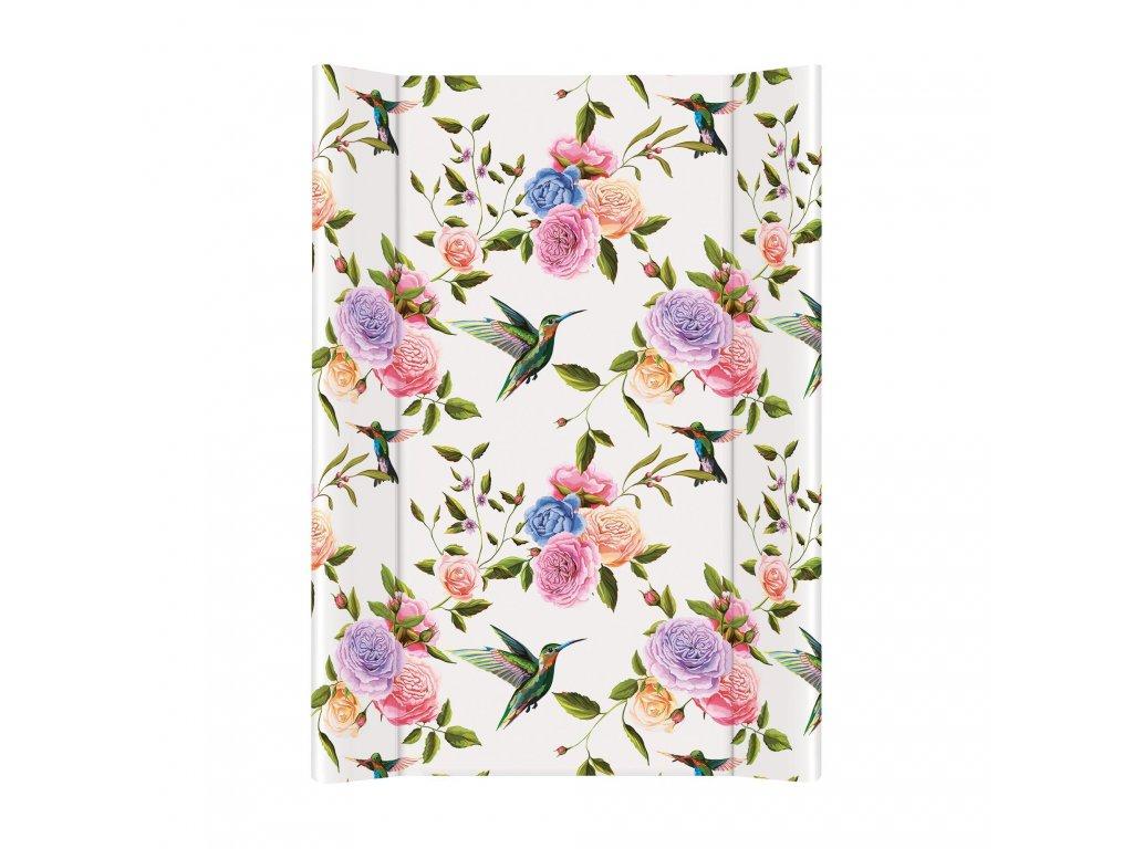 CEBA Podložka přebalovací 2-hranná MDF 70x50cm Flora & Fauna Květiny