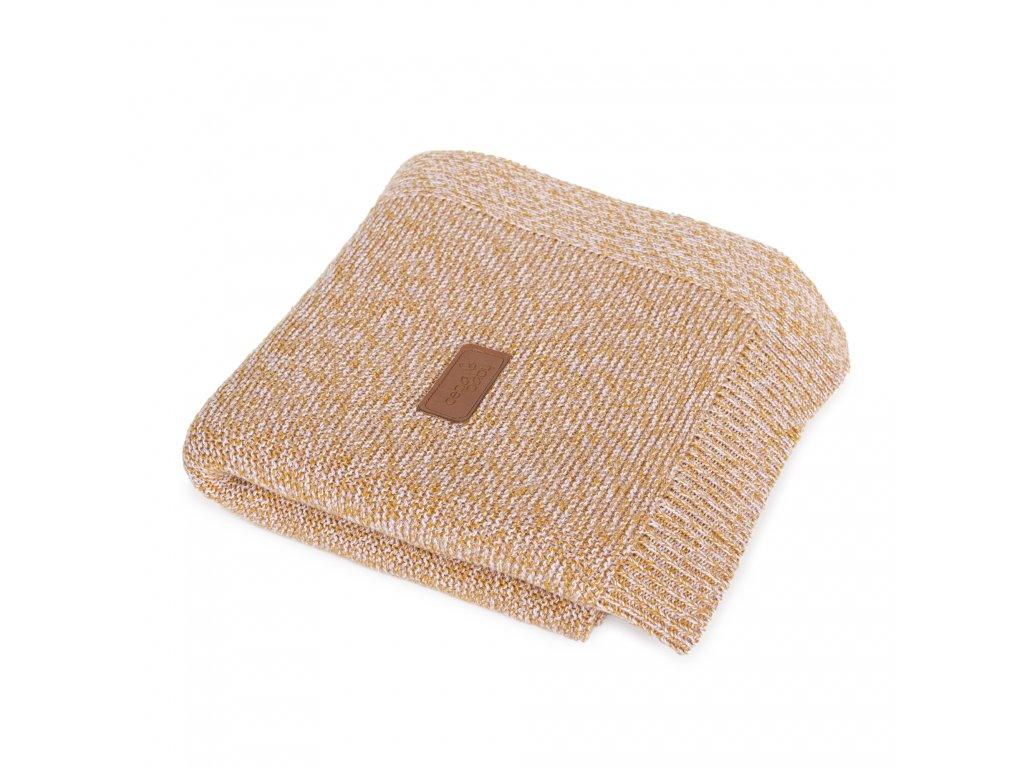 Pletená deka Ceba Francouzský krep Zrzavá