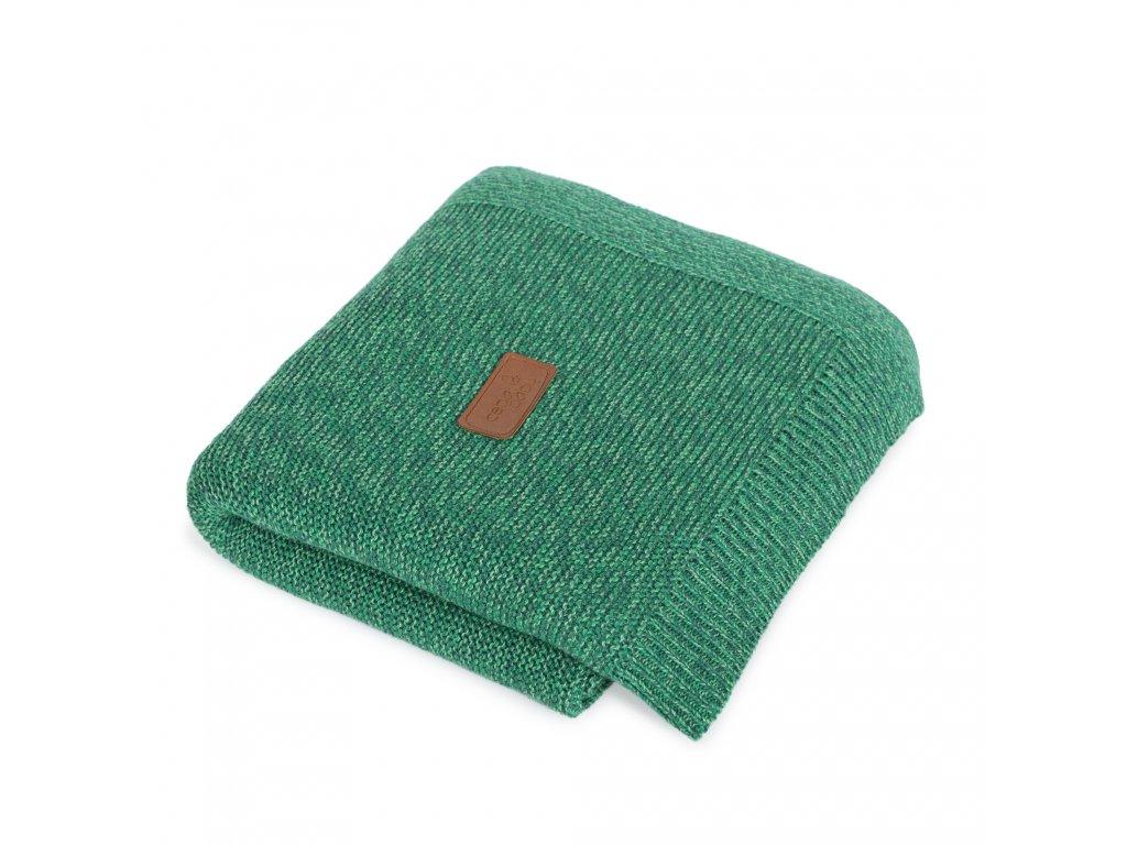 Pletená deka Ceba Francouzský krep Smaragdová
