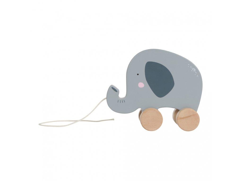 Tahací slon Dřevěný Little Dutch