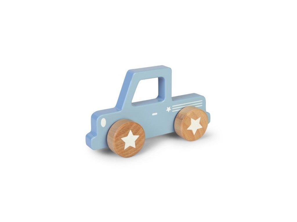 Autíčko modré dřevěné Little Dutch