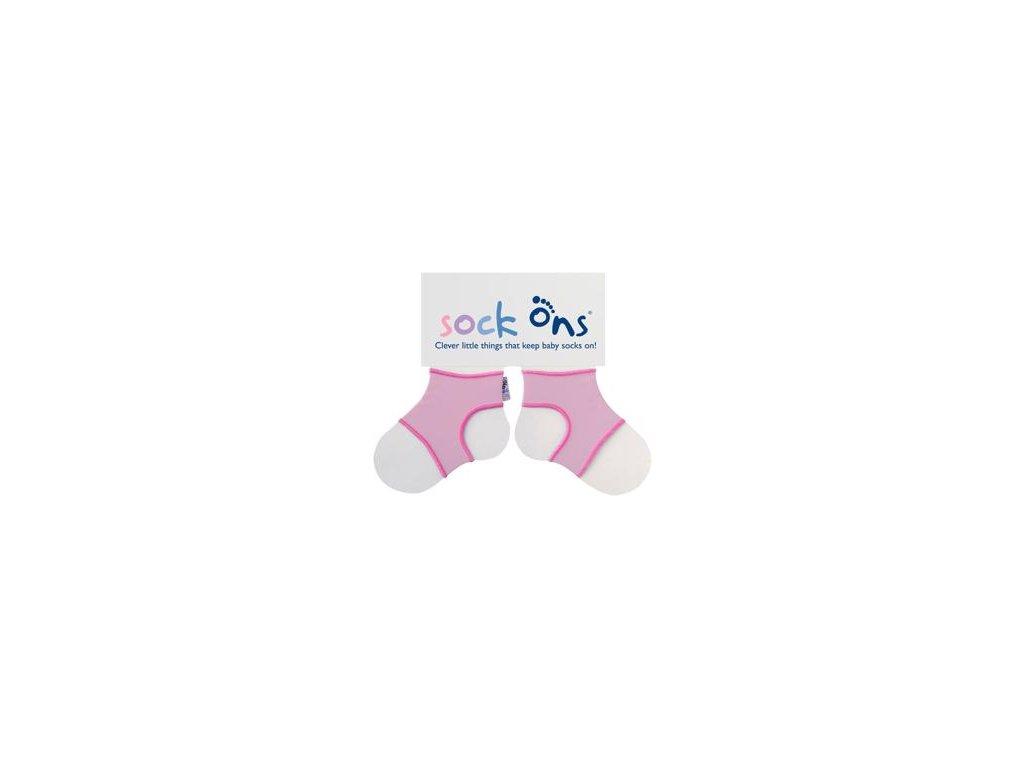 KIKKO Sock Ons Držák ponožek Classic - Růžová (6-12m)