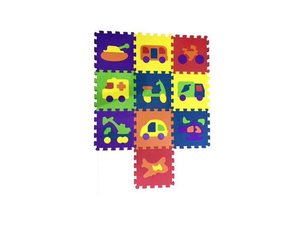 COSING Pěnová podložka puzzle - Dopravní prostředky 10ks
