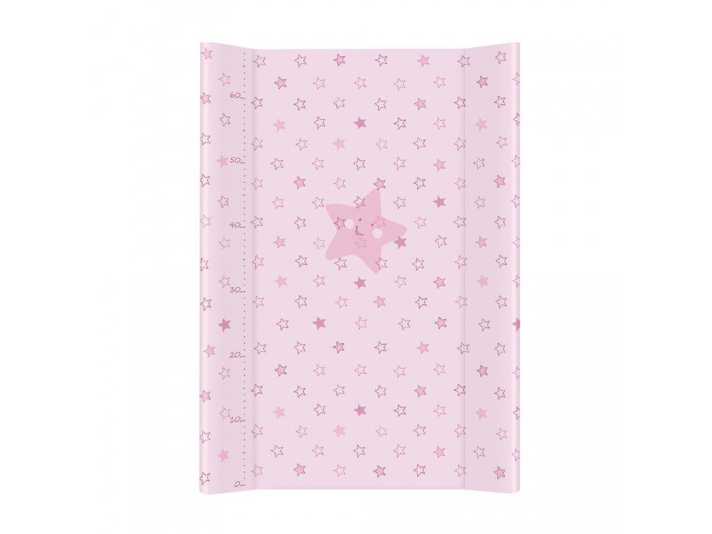 Ceba Baby Přebalovací podložka tvrdá 70 cm profilovaná - Hvězdy, Barva: Růžová