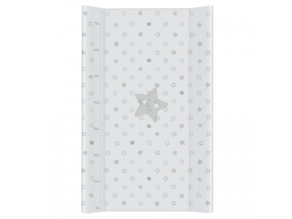 Ceba Přebalovací podložka Tvrdá dvouhranná 80cm Hvězda šedá