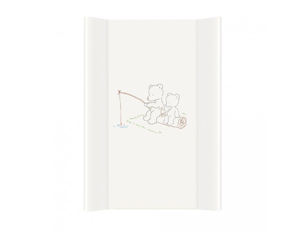 Ceba Přebalovací podložka Měkká dvouhranná 70cm Papa Bear bílá