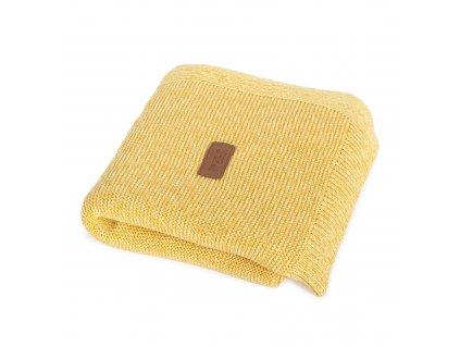 Pletená deka Ceba Francouzský krep Medová