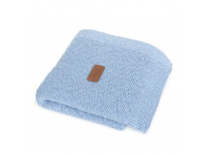 Pletená deka Ceba Francouzský krep Modrá