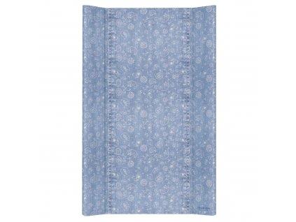 Ceba Přebalovací podložka Tvrdá dvouhranná 80cm Denim Style Boho blue