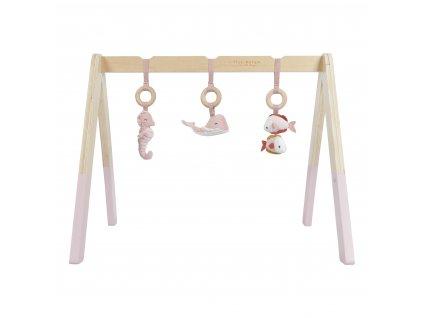 Dřevěná hrazdička + 3 zvířátka Ocean pink Little Dutch