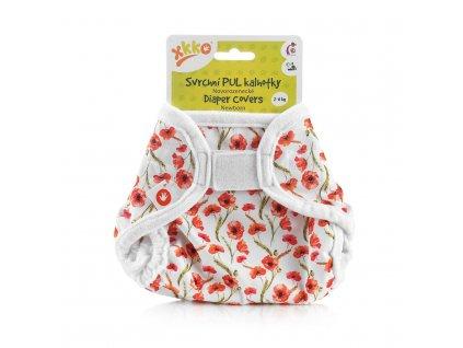 Svrchní PUL kalhotky  Newborn - Red Poppies