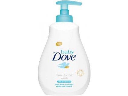 BABY DOVE Sensitive Mycí gel pro celé tělo i vlásky, 400 ml