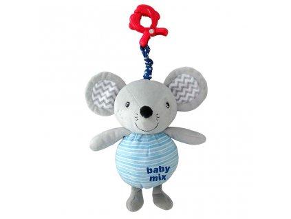 Dětská plyšová hračka s hracím strojkem Baby Mix Myška