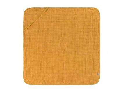 Muslin Hooded Towel mustard