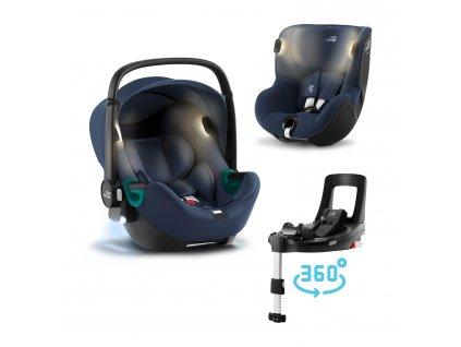 Autosedačka set Baby-Safe iSense+Flex Base iSense+autosedačka Dualfix iSense, Indigo Blue