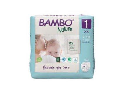 BAMBO Nature Pleny jednorázové 1, 22 ks, 2-4 kg