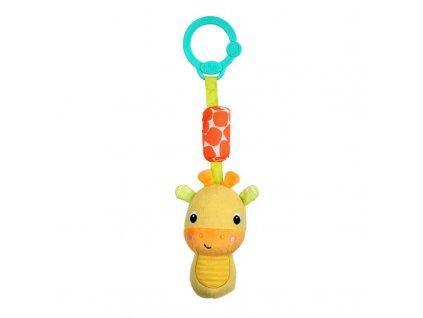 Hračka plyšová chrastítko na C kroužku Chime Along Friends žirafa 0m+