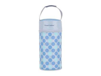 CANPOL BABIES Termoobal na kojeneckou láhev Retro, modrá