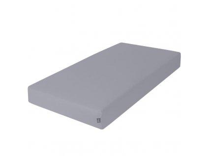 CEBA Prostěradlo Žerzej napínací s gumou 120 x 60 cm tmavě šedá