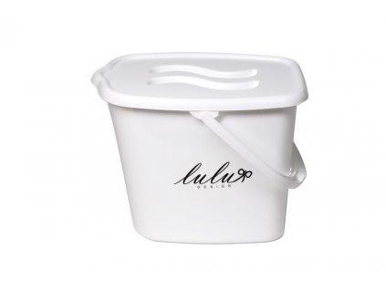 MALTEX Kbelík plastový s víkem Lulu bílý
