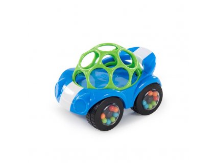 OBALL Hračka autíčko Rattle & Roll Oball™ modro / zelené 3m+
