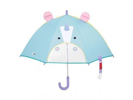 Zoo deštník s okénkem na výhled Jednorožec 3+