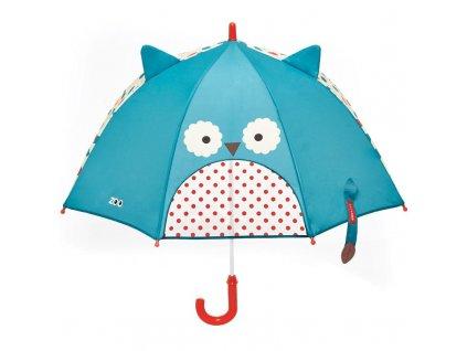 Zoo deštník s okénkem na výhled Sovička 3+