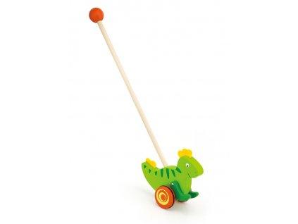 Dřevěná jezdící hračka Viga dinosaurus