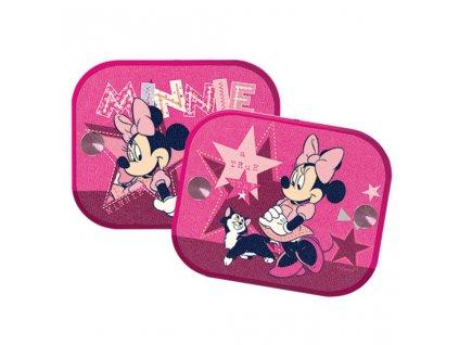 Stínítka do auta 2 ks v balení Minnie Mouse růžová
