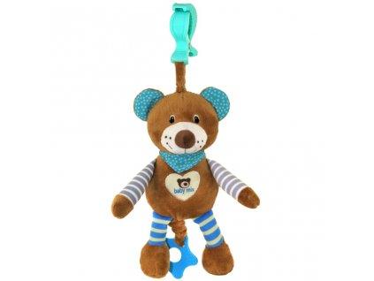 Edukační hrající plyšová hračka s klipem Baby Mix medvídek