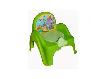 Nočník - židlička, Barva: Zelená