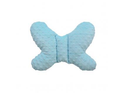 COSING Polštářek MINKY Motýlek, Barva: Modrá