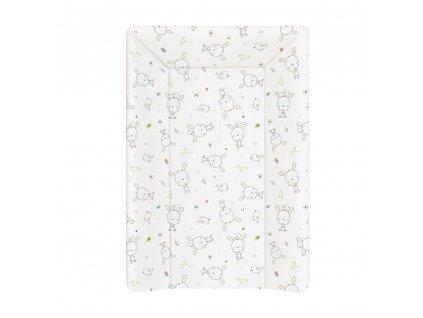 CEBA Podložka přebalovací 3-hranná MDF 70x50cm Dream puntíky bílá