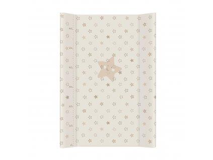 Ceba Baby Přebalovací podložka měkká 70 cm profilovaná - Hvězdy, Barva: Béžová