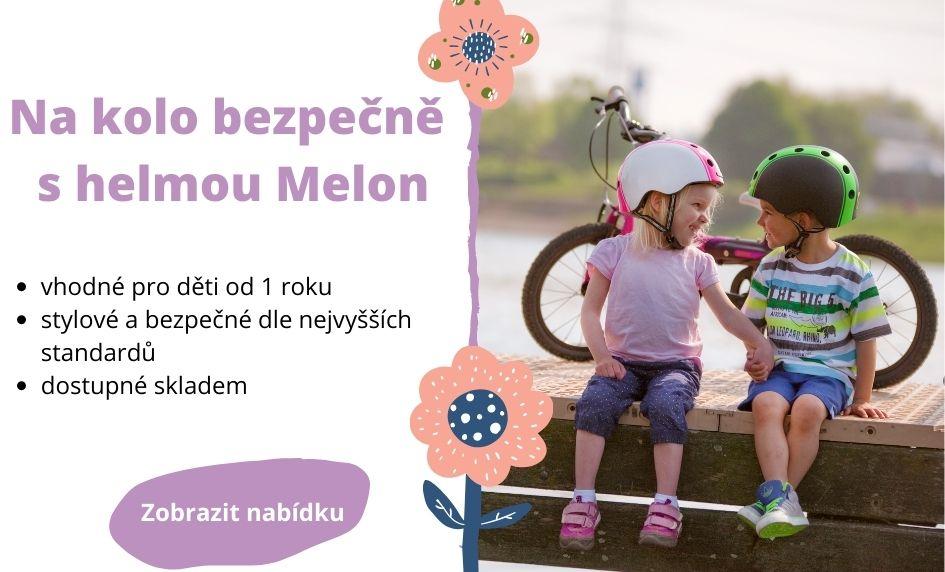 Na kolo bezpečně s helmou Melon