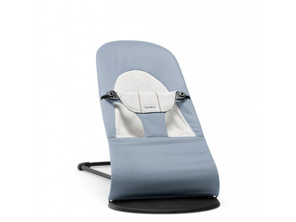 Lehátko Babybjorn Balance Soft Blue/grey cotton Jersey