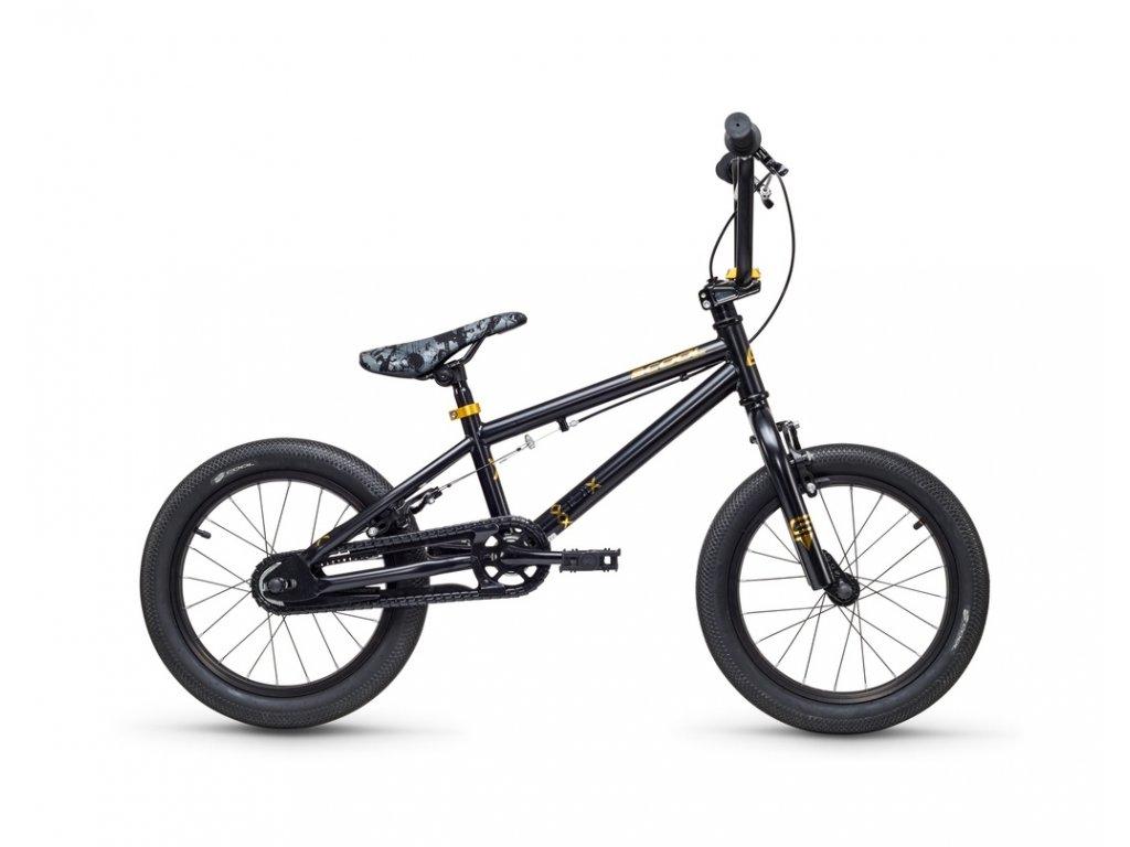 S'COOL Dětské kolo  XtriX mini 16 černé/zlaté (od 107 cm)