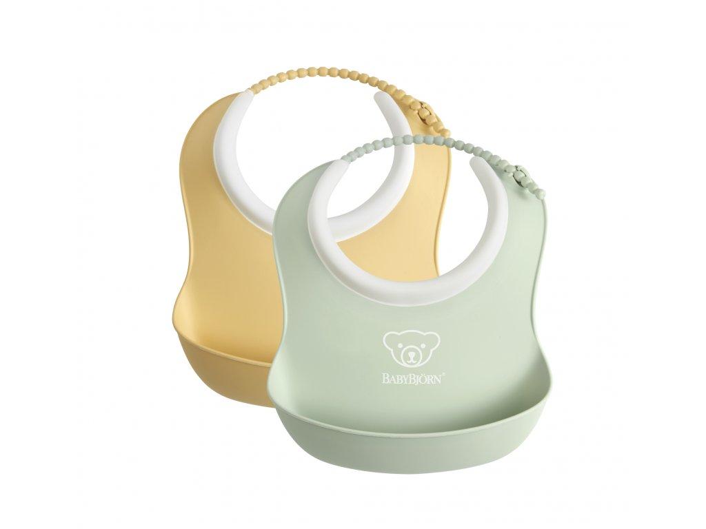 vyr 302 Small Baby Bib Powder YellowPowder Green 2 pack 1