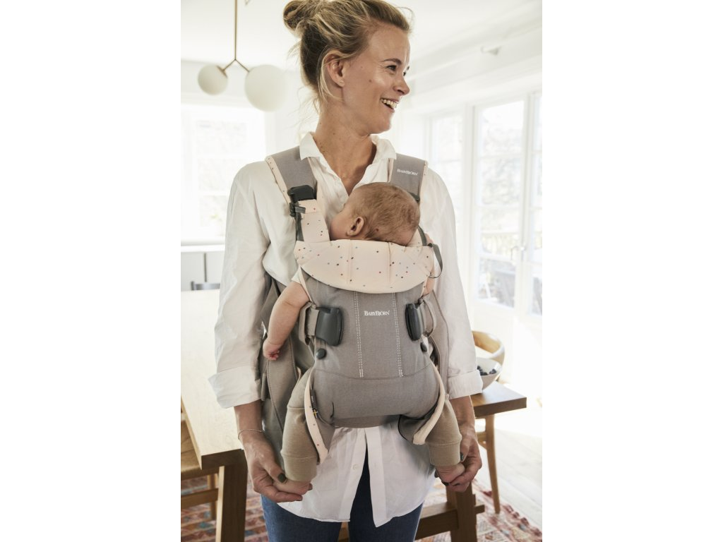 vyrp12 347Baby Carrier One 2018 Classic greyPink sprinkles Cotton 2